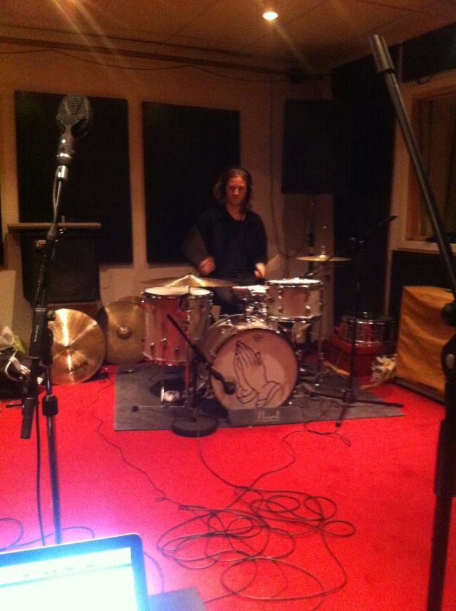 Recording drums for the new album